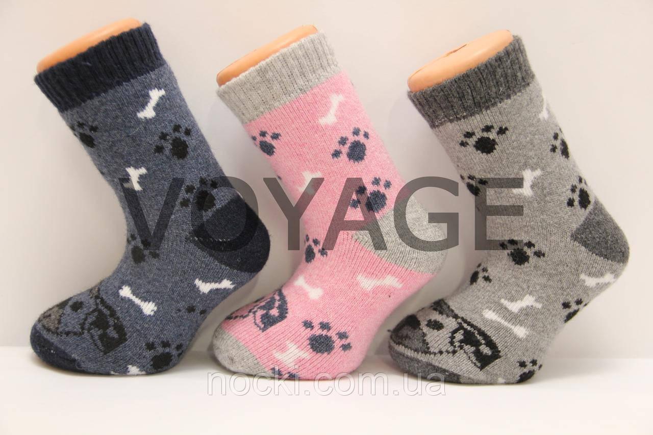 Дитячі шкарпетки з вовни з махрою SL 18-20 собачки