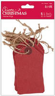 Набор декоративных элементов Красные бирки