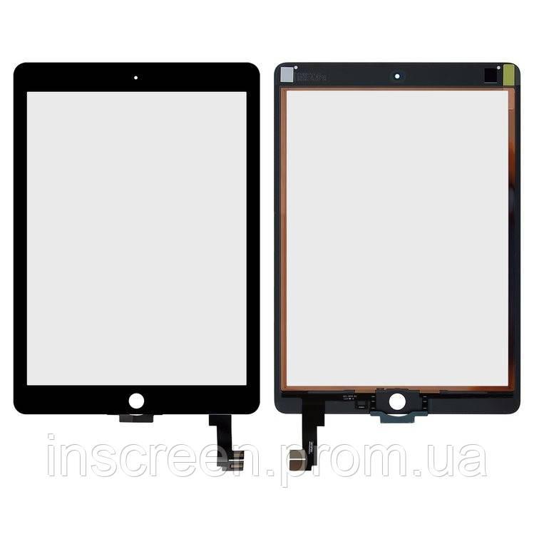 Сенсор (тачскрін) Apple iPad Air 2 A1566, A1567 чорний, копія високої якості, фото 2