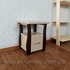 """Двоколірна тумбочка з висувним ящиком """"Грета Вульф Міні - 2"""" (довжина 40 см)"""
