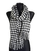 Теплый шарф Стелла 180*65 см черный, фото 1