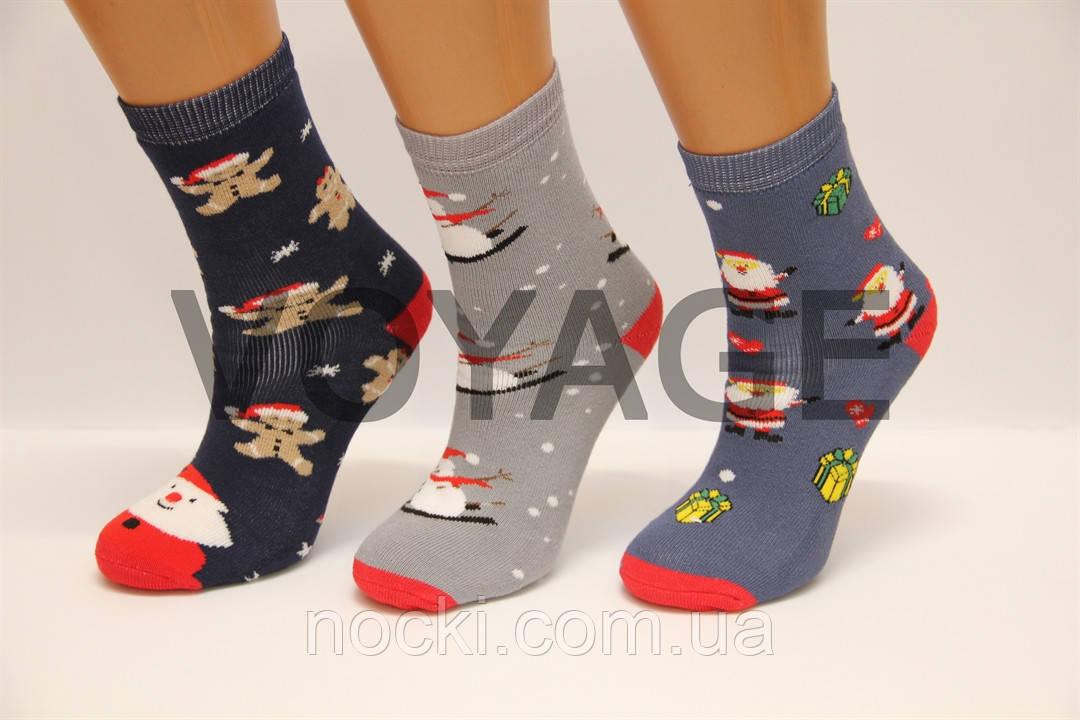 Дитячі шкарпетки махрові новорічні Стиль Люкс 18-20 514,515,516