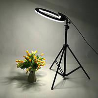 Кольцевая светодиодная лампа для селфи 31 см RGB со штативом на 2м