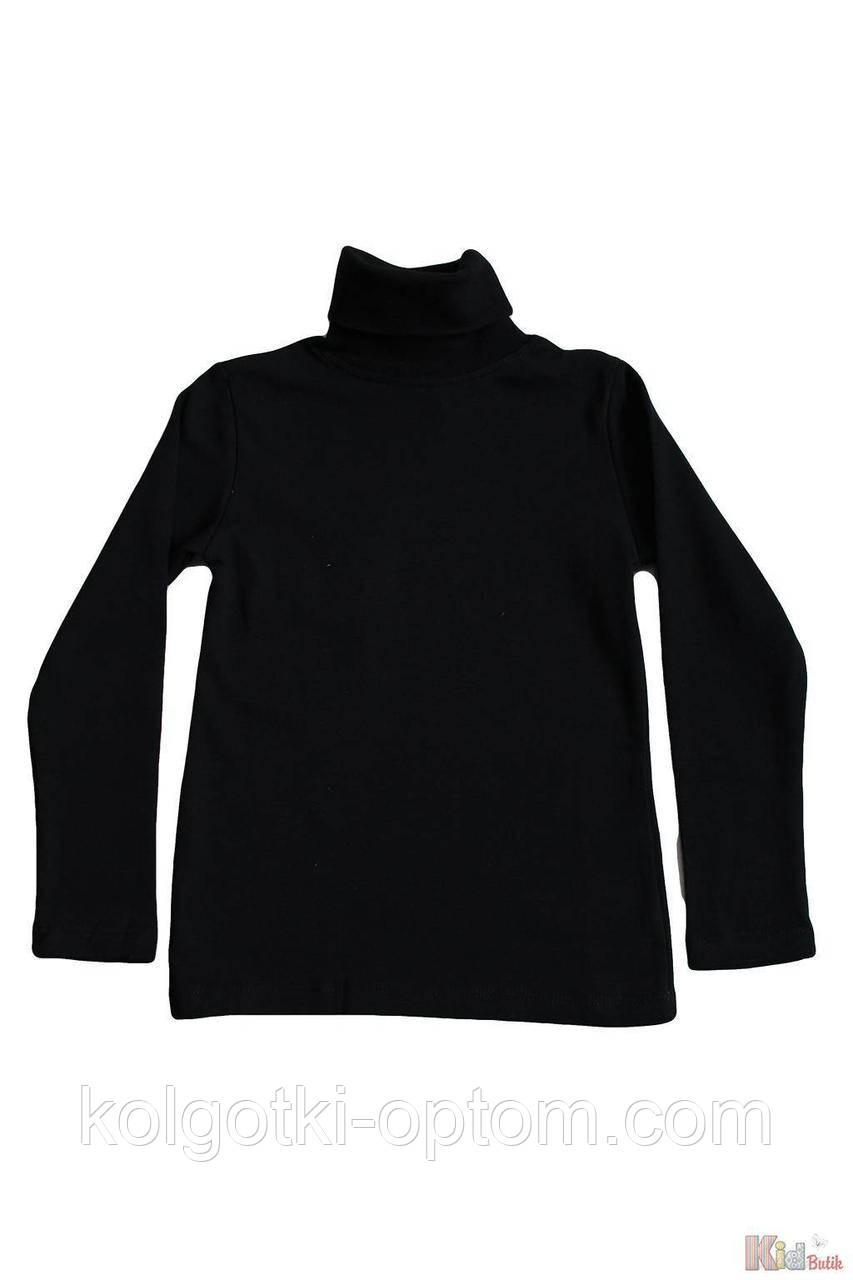 ОПТОМ Упаковка (134-140-146-152)  Гольф черного цвета базовый для ребенка-подростка Lovetti 1111000001245