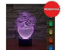 Настольный светильник 3D - New IDEA 3D Desk Lamp., фото 1