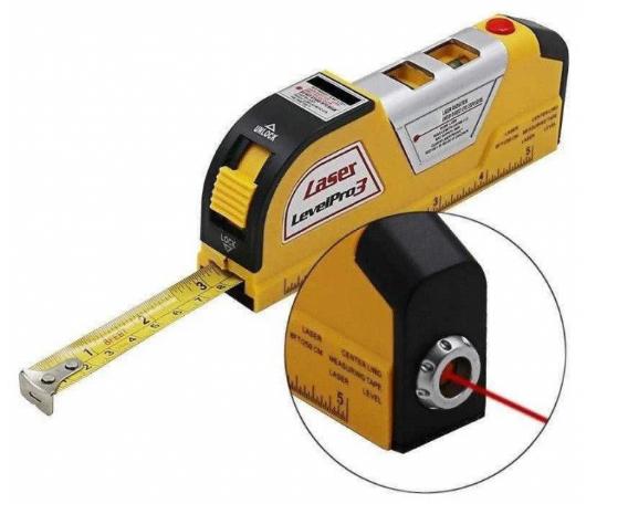 Будівельний лазерний рівень 4 в 1 Laser Level Pro 3 з рулеткою (KG-211)