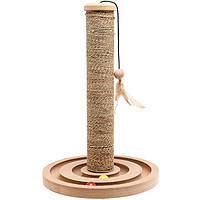 Столбик когтеточка для котов Flamingo (Фламинго) Seaweed + toy brigitte (30х44 см.)