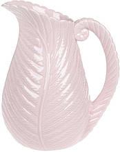 Ваза керамическая Лист папоротника 28 см Розовая (psg_BD-739-120)