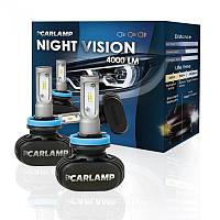 Светодиодные автолампы H7 CARLAMP Night Vision Led для авто 4000Lm 6000K (NVH7), фото 1