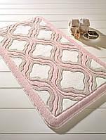 Коврик для ванной 55х57 Confetti Tiffany кремовый/розовый