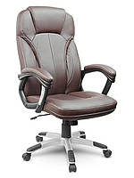 Кожаное офисное кресло Eago EG-222 коричневое