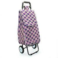 Хозяйственная сумка-тележка, кравчучка, сумка для покупок  на 2-х колесах