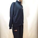 Теплый спортивный костюм (Больших размеров) на молнии из кашемира, фото 6