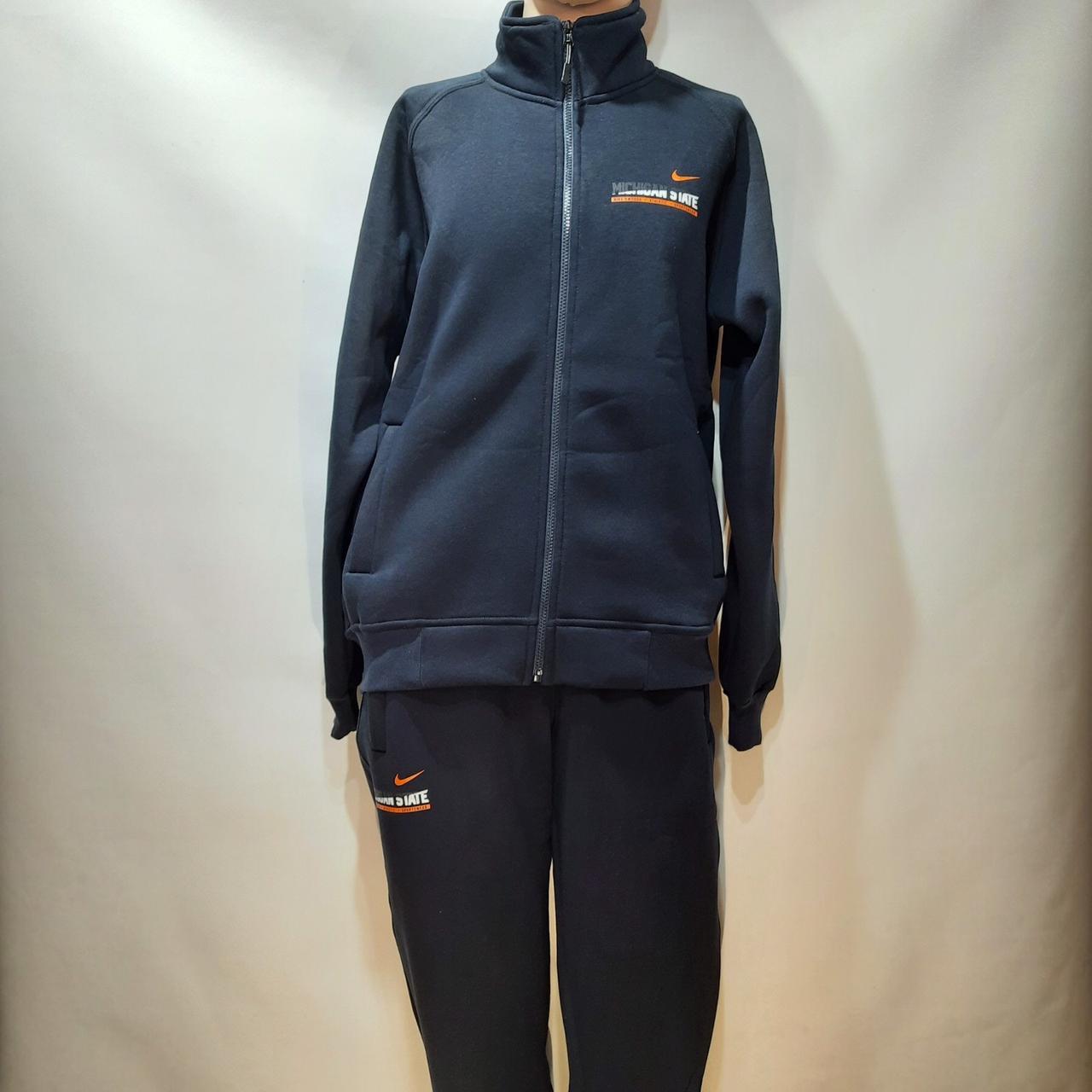 Теплый спортивный костюм (Больших размеров) на молнии из кашемира