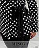 50-64 р. Женский нарядно-деловой брючный костюм с пиджаком в горошек больших размеров черный, фото 4