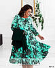 50-64 р. Женский нарядный костюм платье и жакет больших размеров зеленый, фото 2