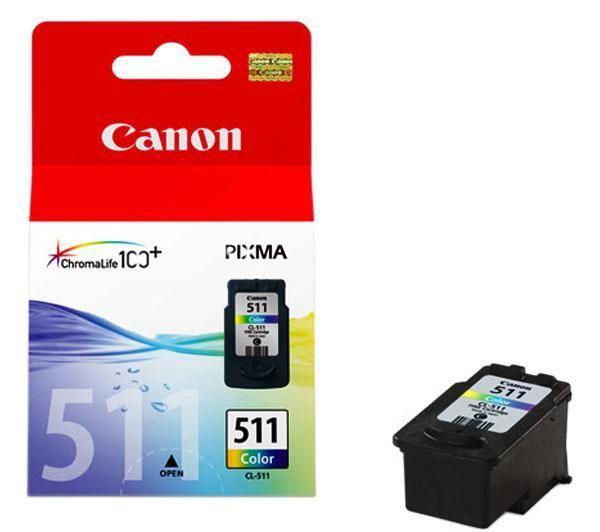 Кaртридж CANON CL-511 CANON MP240/250/260/270/272/280/490/492/495/ MX320/330 color (2972B007)