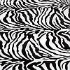 Хлопковая бандана 55*55 см принт зебра черно-белый