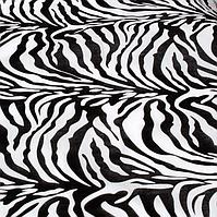 Хлопковая бандана 55*55 см принт зебра черно-белый, фото 1