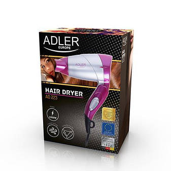 Фен для волос Adler AD 223 pi  1300w, фото 2