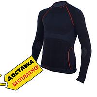 Компрессионная футболка мужская с длинным рукавом Лонгслив для спорта Blizzard Mens Черный (NL 140350-XS-S)