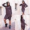 Жіноче плаття,матеріал: ангора софт, тепле з декором,з довгим рукавом(48-58)
