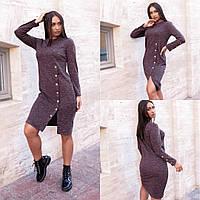 Жіноче плаття,матеріал: ангора софт, тепле з декором,з довгим рукавом(48-58), фото 1