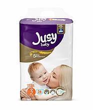 Детские подгузники Jusy midi 3 4-9 кг (Jmidi36)