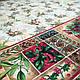 Ткань для новогодней скатерти рогожка Винтаж 150 см, фото 2