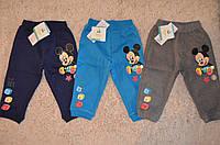 Трикотажные спортивные брюки с теплым начесом Дисней Микки для мальчиков 6-23 месяцев