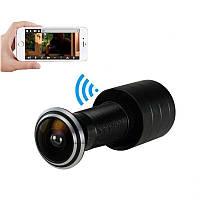 Видеоглазок wifi беспроводной с датчиком движения и записью Geniuspy D178, 2 Мп, 1080P, приложение для Android и IOS