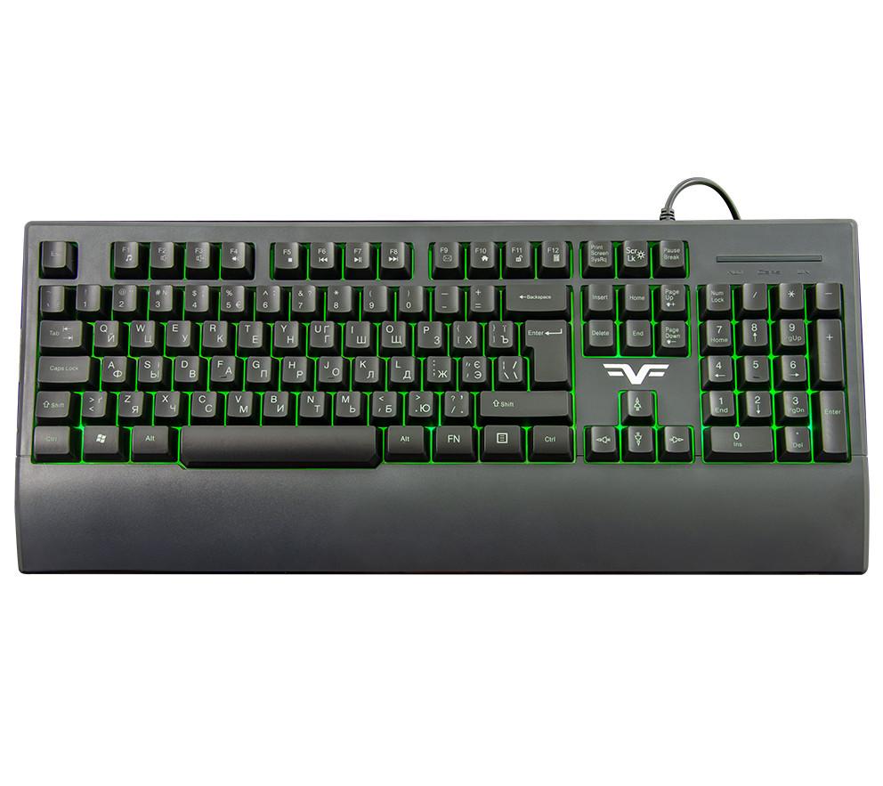 Клавиатура Frime Graphit Black USB RUS/UKR (FLK19600)