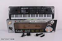 Синтезатор от сети, 61 клавиша, с микрофоном, фм радио