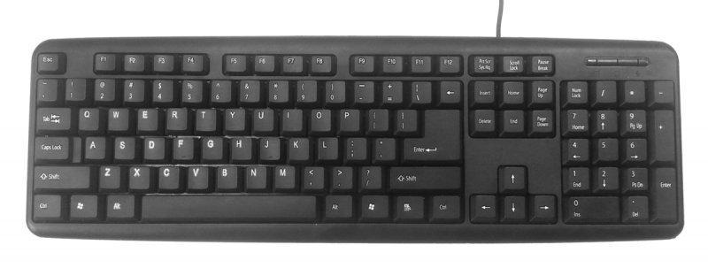 Клавіатура Gembird KB-U-103-UA, стандартна розкладка, USB, українська розкладка, чорний колір