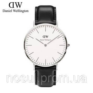 Часы DW Daniel Wellington копия в подарочной упаковке, черный ремешок