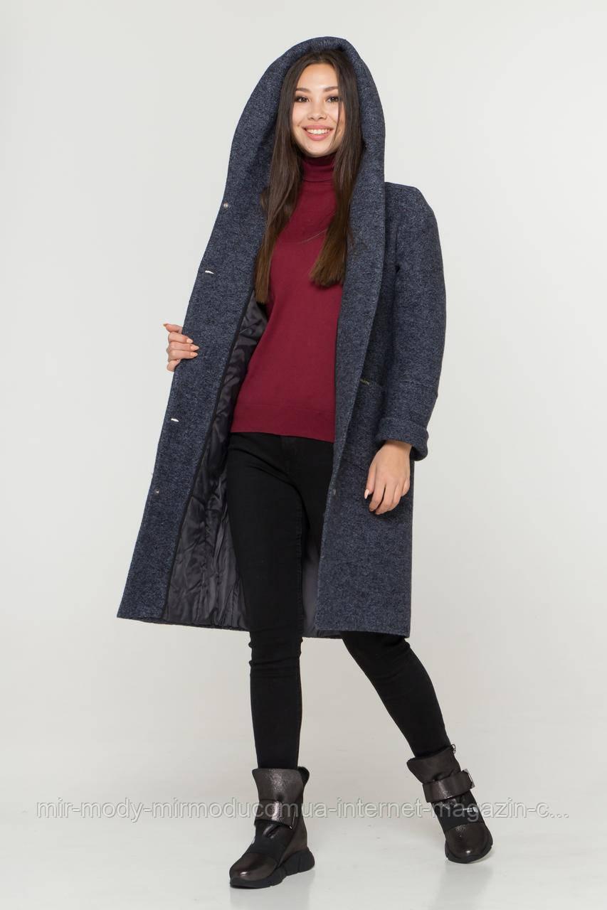 Пальто зимнее Афелия букле варенка  с 44 по 52 размер (девис)