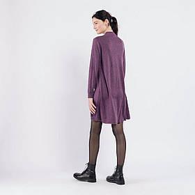Трикотажное короткое платье А-силуэта в 4 цветах в размере S/M и L/XL фиолетовый