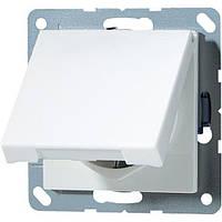 Розетка с з/к с крышкой IP44 JUNG A520KLWW белый