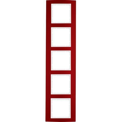 Рамка 5-а коллекция B.3, цвет «красный / полярно белый», 10153022