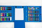 ОПТ ОПТ Набір для малювання UKC з мольбертом у кейсі-валізі 208 предметів Синій, фото 2