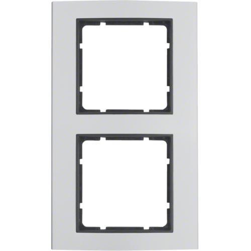 Рамка 2-а коллекция B.3, цвет «алюминий / антрацит», 10123004