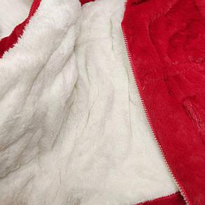 Шубка детская на девочку капюшон с ушками красная  2-6 лет осень- еврозима, фото 2