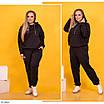 Яркий женский спортивный костюм-двойка большого размера, размеры 50-52, 54-56, 58-60, фото 6