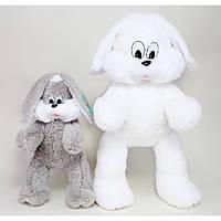 Мягкая игрушка заяц. Плюшевый заяц. Мягкий заяц. Большой мягкий заяц.Мягкий зайка