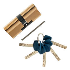 Цилиндровый механизм Apecs Premier XR-80(40х40)-G золото ключ/ключ