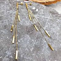 Довгі сережки з медичної сталі Спокуса 176352, фото 1