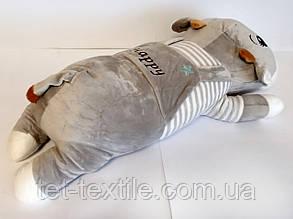 """Мягкая игрушка - подушка с пледом внутри """"Коровка"""" серая, фото 2"""