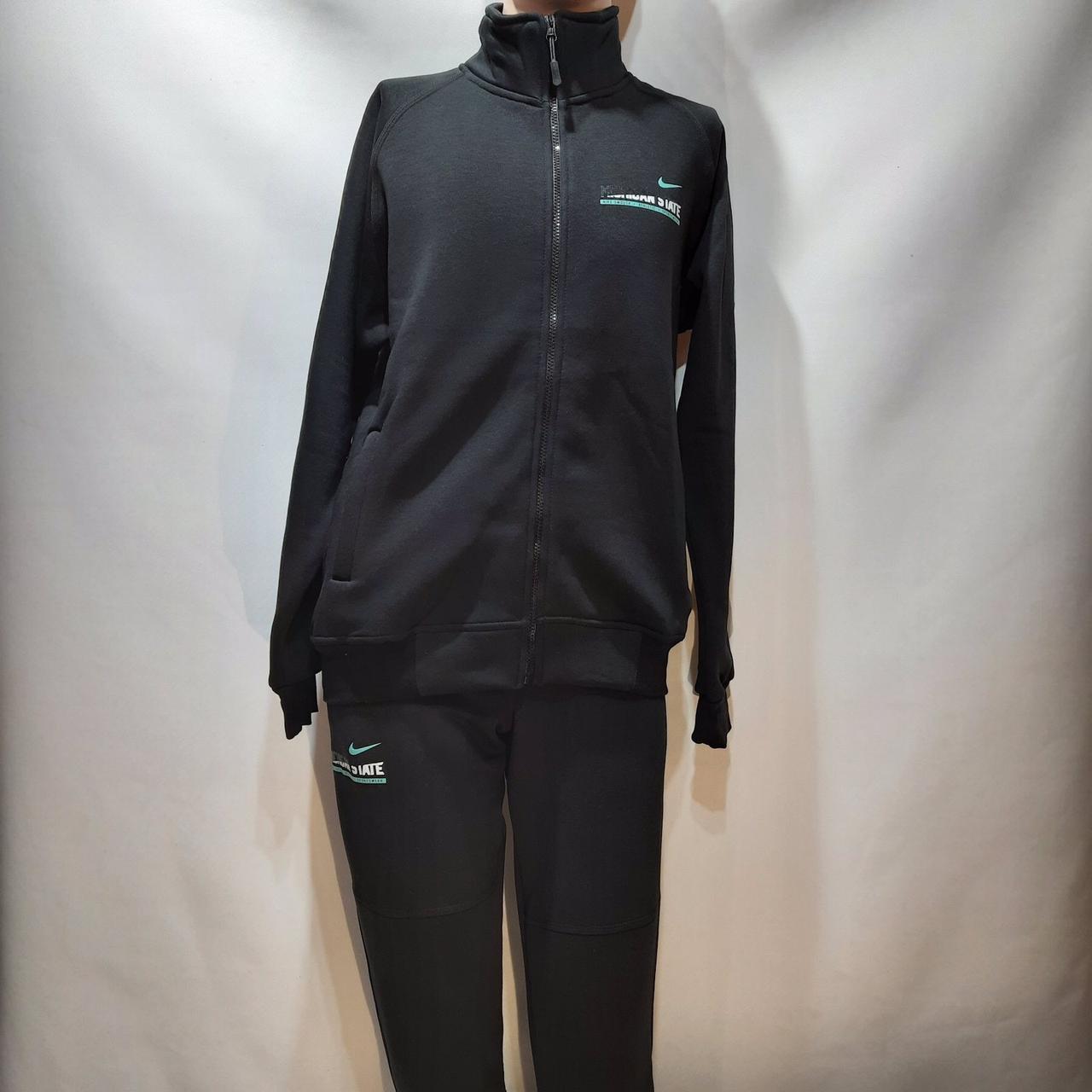 Спортивный костюм (Больших размеров) теплый на молнии  Nike (Найк)