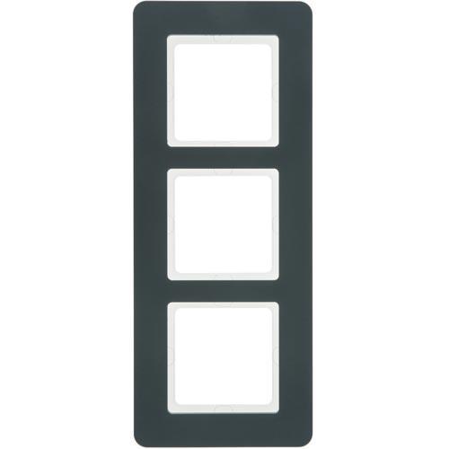 Рамка 3-я пластик антрацит Q.7, 10136186