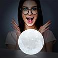 Детский ночник Луна 3D Moon Touch Control FC 20 см. FC, фото 6